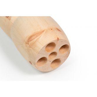 Holzrolle Sanduhr aus hochwertigem Zirbenholz, intensive Massage