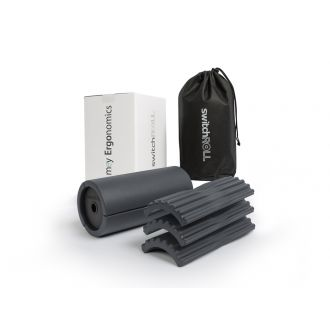 Fascia training -starter set  -  switchROLL incl. extension set grooves, soft, for exchange