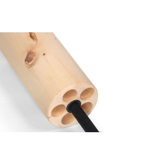 Fascia roll made of arolla pine wood with axis, intensive massage