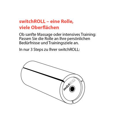 Faszienrolle switchROLL wechselbare Oberflaeche Step2 mey Ergonomics