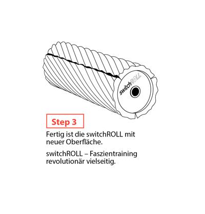 Faszienrolle switchROLL wechselbare Oberflaechen Step3 mey Ergonomics